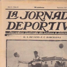 Coleccionismo deportivo: REVISTA JORNADA DEPORTIVA 20 NOVIEMBRE 1922. Lote 32945342
