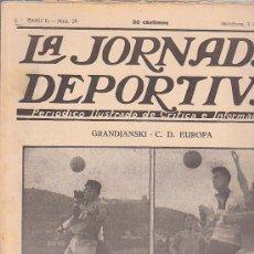 Coleccionismo deportivo: REVISTA JORNADA DEPORTIVA 3 ABRIL 1922. Lote 32945371