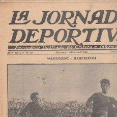 Coleccionismo deportivo: REVISTA JORNADA DEPORTIVA 12 ENERO 1925. Lote 32945379