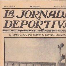Coleccionismo deportivo: REVISTA JORNADA DEPORTIVA 18 DICIEMBRE 1922. Lote 32945418