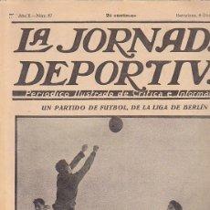 Coleccionismo deportivo: REVISTA JORNADA DEPORTIVA 6 DICIEMBRE 1922. Lote 32945426