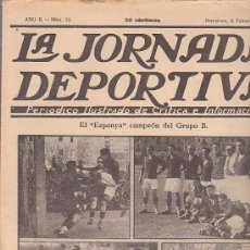 Collectionnisme sportif: REVISTA JORNADA DEPORTIVA 6 FEBRERO 1922. Lote 32945433