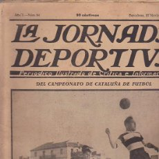 Coleccionismo deportivo: REVISTA JORNADA DEPORTIVA 27 NOVIEMBRE 1922. Lote 32945440