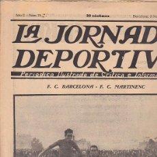 Coleccionismo deportivo: REVISTA JORNADA DEPORTIVA 3 NOVIEMBRE 1922. Lote 32945484