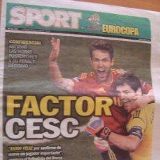 Coleccionismo deportivo: PERIODICO SPORT EXTRA EUROCOPA 2012. Lote 32975476