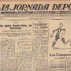 Coleccionismo deportivo: REVISTA LA JORNADA DEPORTIVA 13 ENERO 1924 HOCKEY ESPAÑA - SUIZA. Lote 33073288