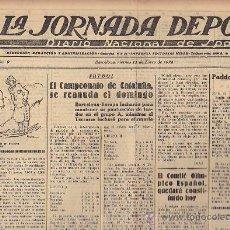 Coleccionismo deportivo: REVISTA LA JORNADA DEPORTIVA 11 ENERO 1924 . Lote 33073307