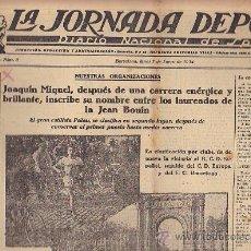 Coleccionismo deportivo: REVISTA LA JORNADA DEPORTIVA 7 ENERO 1924 . Lote 33074132