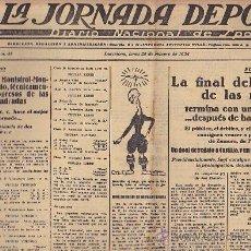 Coleccionismo deportivo: REVISTA LA JORNADA DEPORTIVA 25 FEBRERO 1924 . Lote 33074142
