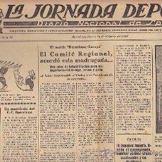 Coleccionismo deportivo: REVISTA LA JORNADA DEPORTIVA 14 FEBRERO 1924. Lote 33074173