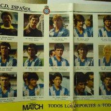 Coleccionismo deportivo: POSTER CENTRAL REVISTA D.BALON R.C.D.ESPAÑOL. Lote 33082952