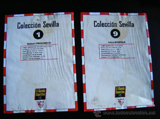 Coleccionismo deportivo: COLECCION SEVILLA MUNDO DEPORTIVO, Nº 1 PROSINECKI, Nº 9 MORNAR, KAPPA, TAMAÑO FOLIO, 21X30CM. VER! - Foto 4 - 33249112