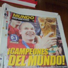 Coleccionismo deportivo: MUNDO DEPORTIVO.CAMPEONES DEL MUNDO . SUDAFRICA 2010.. Lote 33303105