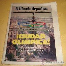 Collezionismo sportivo: EL MUNDO DEPORTIVO 18 OCTUBRE 1986 CONCESION OLIMPIADAS A BARCELONA. Lote 33411845