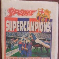 Coleccionismo deportivo: DIARIO SPORT SUPERCAMPIONS LA LIGA 1 AÑO 1992 FUTBOL CLUB FC BARCELONA F.C BARÇA CF VER FOTOS. Lote 33490548