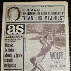 Collectionnisme sportif: - 1.978 DIARIO AS (NO COLOR) 3185 - FUTBOL - KUBALA SELECCION ESPAÑOLA GORDILLO EL R. Lote 33573539