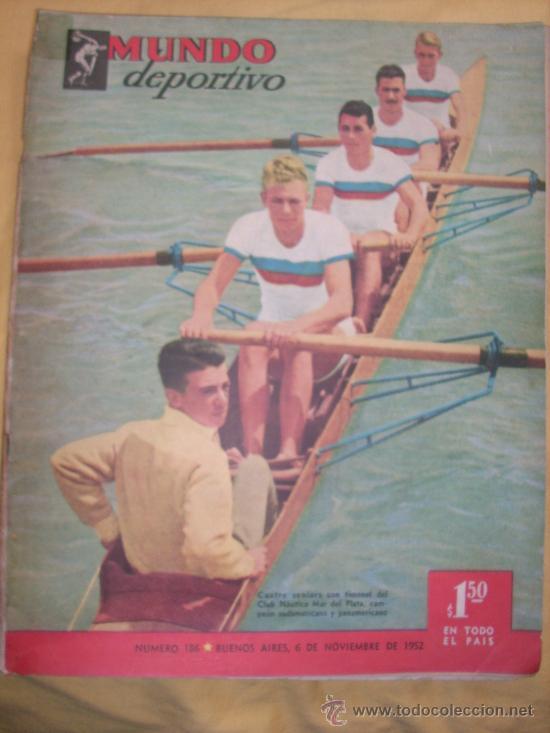 MUNDO DEPORTIVO Nº 186 - (NOV. 1952) - BILLAR/ FUTBOL/ BOXEO/ PESAS/ ESGRIMA Y OTROS - RARO!! (Coleccionismo Deportivo - Revistas y Periódicos - Mundo Deportivo)