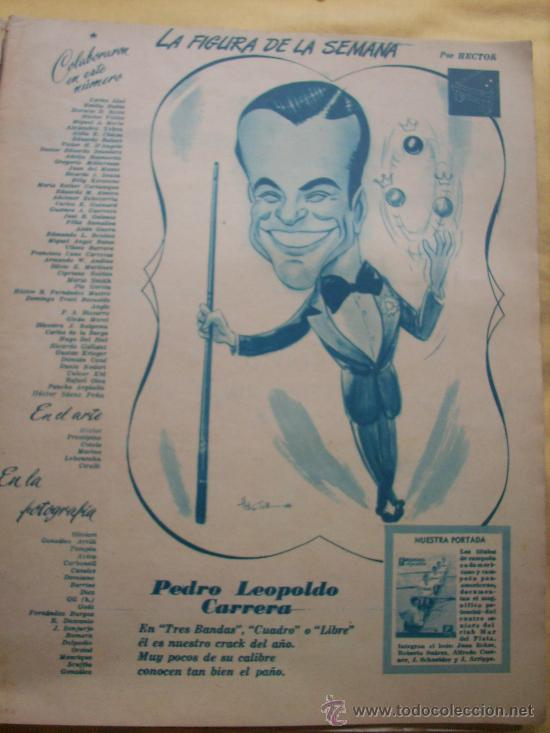 Coleccionismo deportivo: MUNDO DEPORTIVO Nº 186 - (NOV. 1952) - BILLAR/ FUTBOL/ BOXEO/ PESAS/ ESGRIMA y OTROS - RARO!! - Foto 2 - 33583593