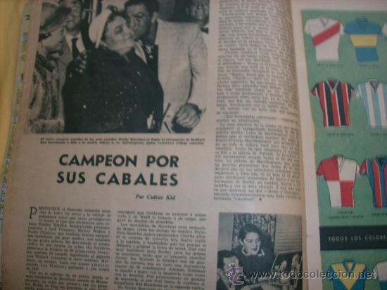 Coleccionismo deportivo: MUNDO DEPORTIVO Nº 186 - (NOV. 1952) - BILLAR/ FUTBOL/ BOXEO/ PESAS/ ESGRIMA y OTROS - RARO!! - Foto 3 - 33583593