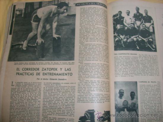 Coleccionismo deportivo: MUNDO DEPORTIVO Nº 186 - (NOV. 1952) - BILLAR/ FUTBOL/ BOXEO/ PESAS/ ESGRIMA y OTROS - RARO!! - Foto 5 - 33583593
