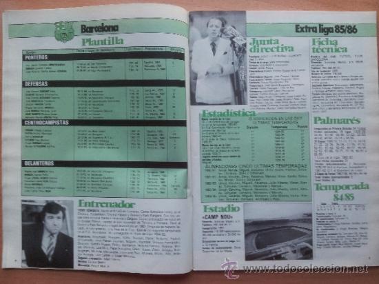 Coleccionismo deportivo: EXTRA DON BALON LIGA 85 - 86 - GUIA LIGA 1985-1986 - - Foto 3 - 33710392