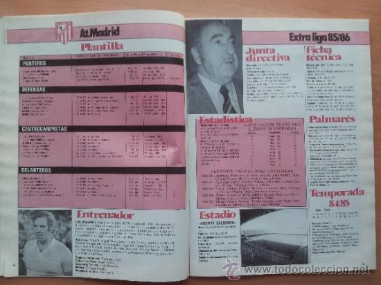 Coleccionismo deportivo: EXTRA DON BALON LIGA 85 - 86 - GUIA LIGA 1985-1986 - - Foto 5 - 33710392