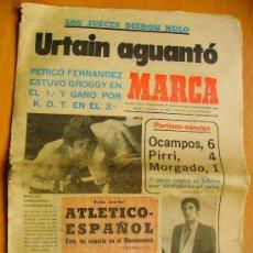 Coleccionismo deportivo: MARCA- 2/3/74-EL CORUÑA- EL ESPAÑOL-LAS PALMAS- EL RACING-EL BARCELONA. Lote 34332082