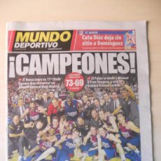 Coleccionismo deportivo: FC BARCELONA CAMPEON DE LA LIGA ENDESA ACB DE BALONCESTO - MUNDO DEPORTIVO 17 JUNIO 2012 BARÇA. Lote 34484701