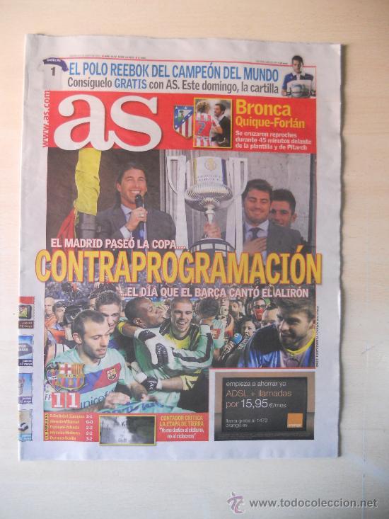 FC BARCELONA CAMPEON DE LIGA 2010/11- DIARIO AS 12 MAYO 2011 BARÇA (Coleccionismo Deportivo - Revistas y Periódicos - As)