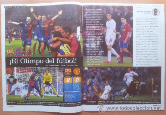 Coleccionismo deportivo: DON BALON FC BARCELONA TRICAMPEON 2008/2009 POSTER CAMPEON CHAMPIONS LEAGUE LIGA COPA DEL REY 09 - Foto 4 - 34521914