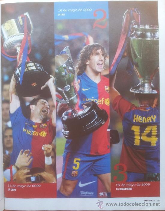 Coleccionismo deportivo: DON BALON FC BARCELONA TRICAMPEON 2008/2009 POSTER CAMPEON CHAMPIONS LEAGUE LIGA COPA DEL REY 09 - Foto 5 - 34521914