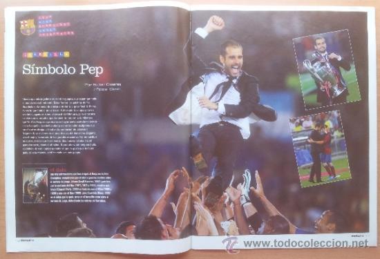Coleccionismo deportivo: DON BALON FC BARCELONA TRICAMPEON 2008/2009 POSTER CAMPEON CHAMPIONS LEAGUE LIGA COPA DEL REY 09 - Foto 6 - 34521914
