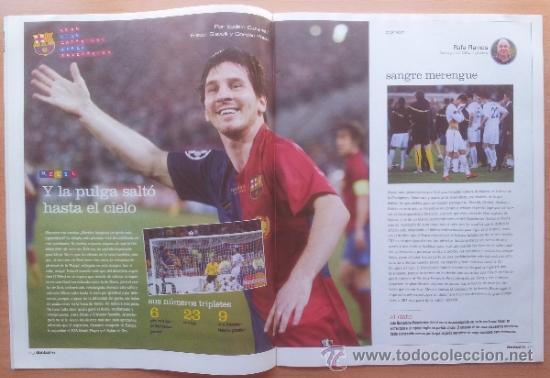 Coleccionismo deportivo: DON BALON FC BARCELONA TRICAMPEON 2008/2009 POSTER CAMPEON CHAMPIONS LEAGUE LIGA COPA DEL REY 09 - Foto 7 - 34521914