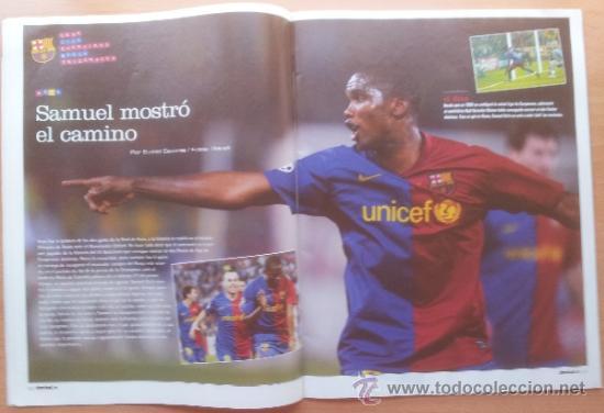 Coleccionismo deportivo: DON BALON FC BARCELONA TRICAMPEON 2008/2009 POSTER CAMPEON CHAMPIONS LEAGUE LIGA COPA DEL REY 09 - Foto 8 - 34521914