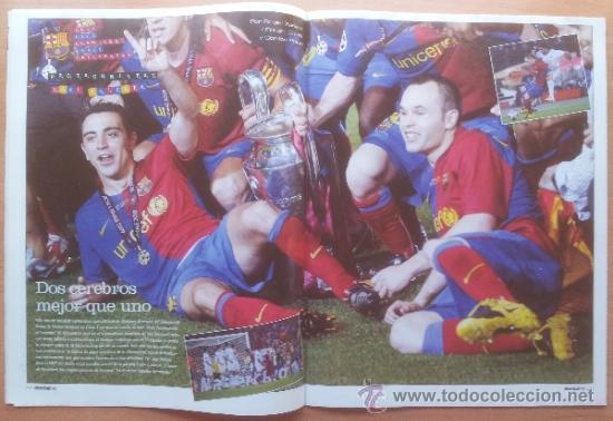 Coleccionismo deportivo: DON BALON FC BARCELONA TRICAMPEON 2008/2009 POSTER CAMPEON CHAMPIONS LEAGUE LIGA COPA DEL REY 09 - Foto 9 - 34521914