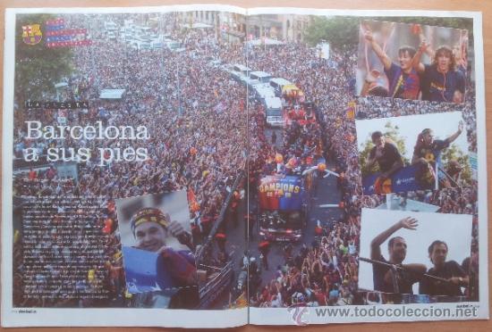 Coleccionismo deportivo: DON BALON FC BARCELONA TRICAMPEON 2008/2009 POSTER CAMPEON CHAMPIONS LEAGUE LIGA COPA DEL REY 09 - Foto 11 - 34521914