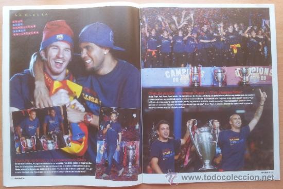 Coleccionismo deportivo: DON BALON FC BARCELONA TRICAMPEON 2008/2009 POSTER CAMPEON CHAMPIONS LEAGUE LIGA COPA DEL REY 09 - Foto 12 - 34521914
