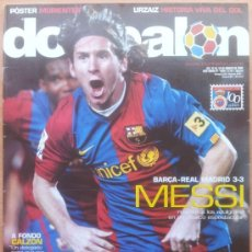 Coleccionismo deportivo: DON BALON FC BARCELONA MESSI-SEVILLA FC PUERTA MOSTACHON-URZAIZ-GUSTAVO LOPEZ-RUBEN RACING. Lote 41190659