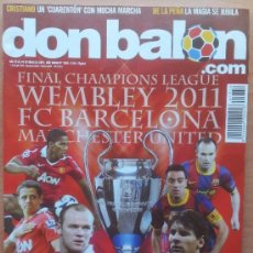 Coleccionismo deportivo: DON BALON FC BARCELONA FINAL CHAMPIONS LEAGUE 2011 WEMBLEY MANCHESTER UNITED CRISTIANO - FALCAO . Lote 34520839