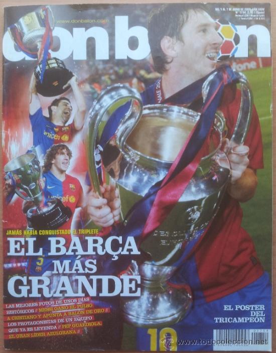 DON BALON FC BARCELONA TRICAMPEON 2008/2009 POSTER CAMPEON CHAMPIONS LEAGUE LIGA COPA DEL REY 09 (Coleccionismo Deportivo - Revistas y Periódicos - Don Balón)