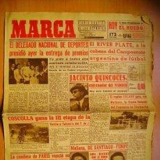 Coleccionismo deportivo: MARCA Nº813- 5/7/45-VUELTA A VALENCIA-EL OSASUNA-FERIA DE PAMPLONA-FERIA DE LINARES. Lote 34584598