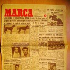 Coleccionismo deportivo: MARCA Nº808 - 29/6/45 - EL GRANADA - EL MADRID - EL DEPORTIVO DE LA CORUÑA. Lote 34584607