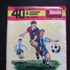 Coleccionismo deportivo: REVISTA MUNDO DEPORTIVO RECOPILACION HISTORICA FUTBOL ESPAÑOL NOVIEMBRE DE 1968. Lote 34643440