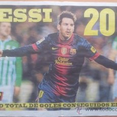 Coleccionismo deportivo: SUPLEMENTO ESPECIAL MUNDO DEPORTIVO POSTER MESSI RECORD DE GOLES AÑO 2012 - FC BARCELONA - BARÇA . Lote 117039722