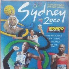 Colecionismo desportivo: EXTRA MUNDO DEPORTIVO GUIA JUEGOS OLIMPICOS SYDNEY 2000 SUPLEMENTO ESPECIAL OLIMPIADAS - . Lote 35223977