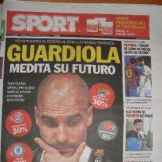 Coleccionismo deportivo: PORTADA PERIODICO SPORT 2/11/2012. Lote 35151882