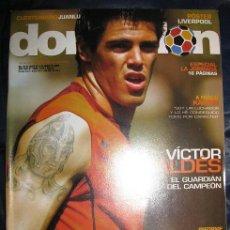 Coleccionismo deportivo: DON BALON Nº1546 (PORTADA VICTOR VALDES) POSTER LIVERPOOL (LEER DESCRIPCION). Lote 35175450