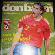 Coleccionismo deportivo: DON BALON Nº1601 (PORTADA RAUL) POSTER VILLA (LEER DESCRIPCION). Lote 115913460