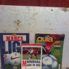 Coleccionismo deportivo: PAPEL-LOTE DE 3 REVISTAS DEPORTIVAS, 2 GUIAS MARCA Y MUNDIAL USA. Lote 35446457