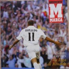 Coleccionismo deportivo: REVISTA SUPLEMENTO ESPECIAL MARCA REAL MADRID CAMPEON DE LIGA 2002/2003 - RONALDO 02-03 - POSTER . Lote 35512285